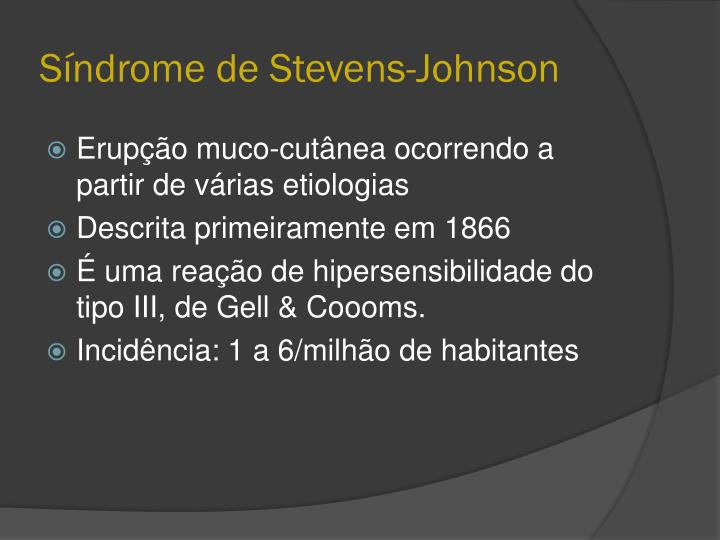 Síndrome de Stevens-Johnson