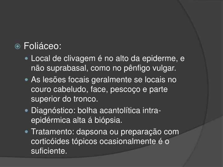 Foliáceo: