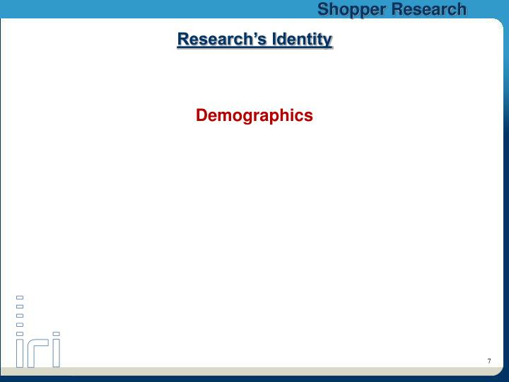 Research's Identity