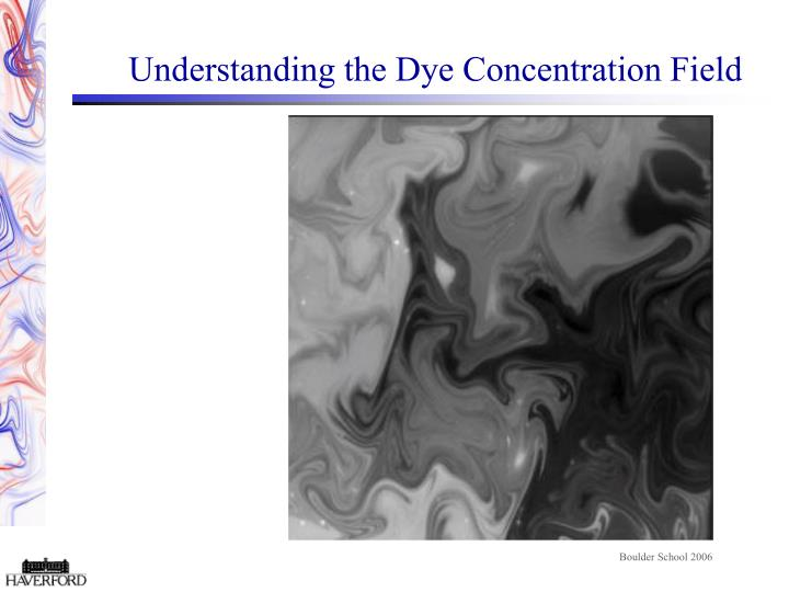 Understanding the Dye Concentration Field
