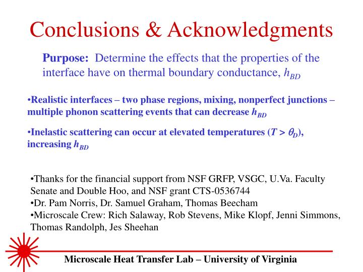 Conclusions & Acknowledgments