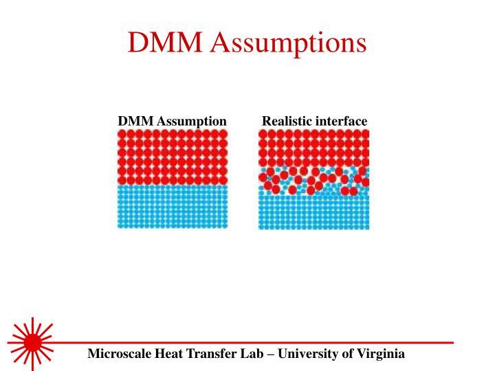 DMM Assumptions
