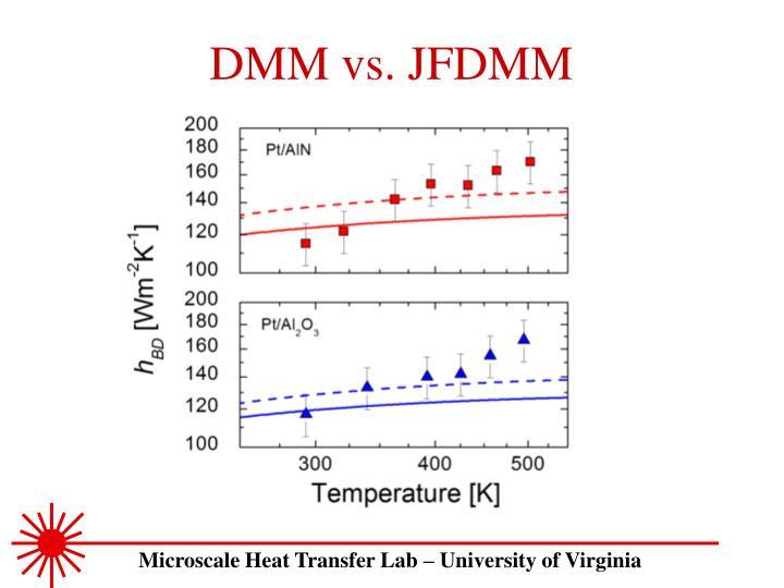DMM vs. JFDMM