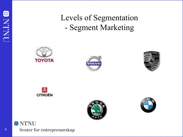 Levels of Segmentation
