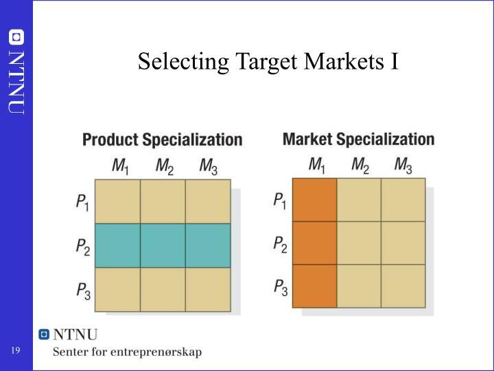 Selecting Target Markets I