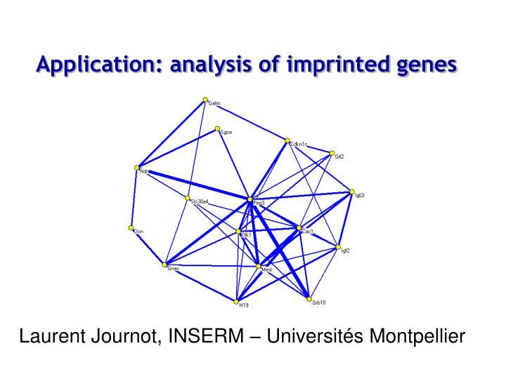 Application: analysis of imprinted genes