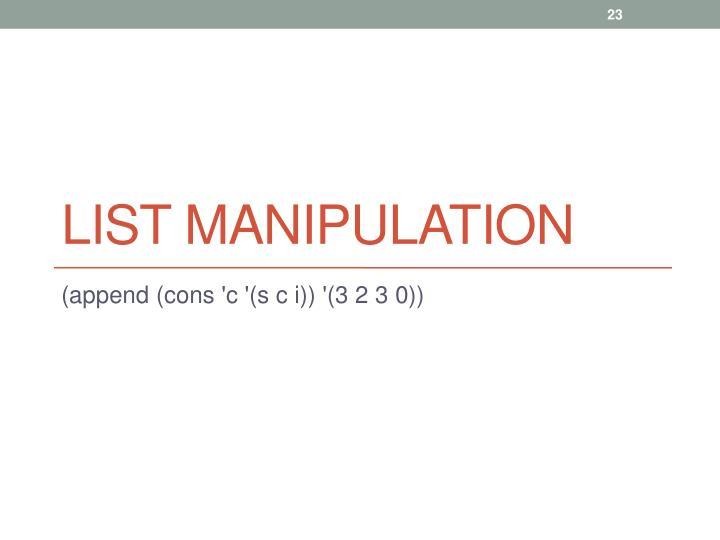 List Manipulation