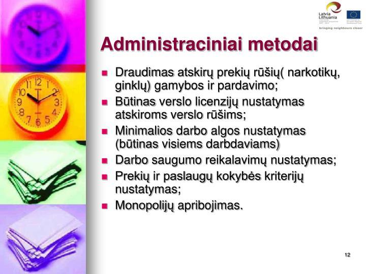 Administraciniai