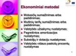 ekonominiai metodai