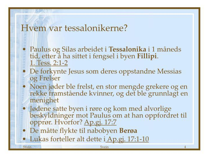 Hvem var tessalonikerne?
