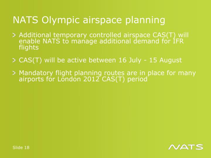 NATS Olympic airspace planning