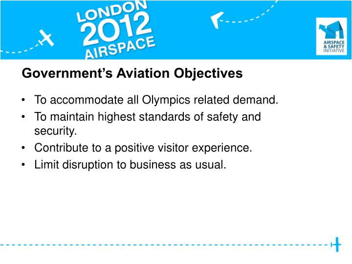 Government's Aviation Objectives