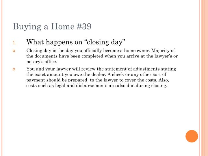 Buying a Home #39