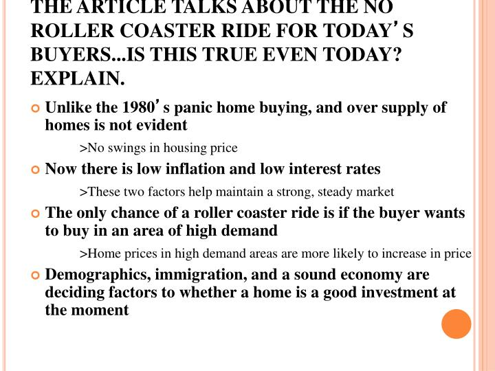 THE ARTICLE TALKS ABOUT THE NO ROLLER COASTER RIDE FOR TODAY
