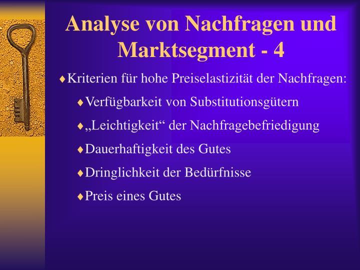 Analyse von Nachfragen und Marktsegment - 4