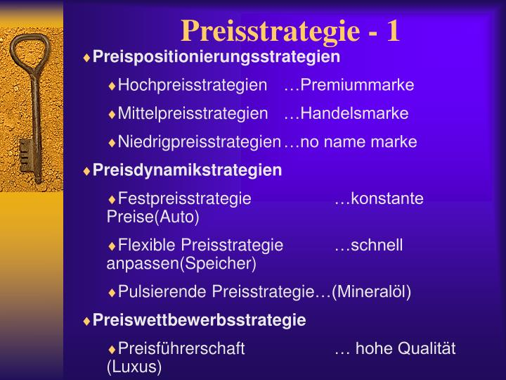 Preisstrategie - 1