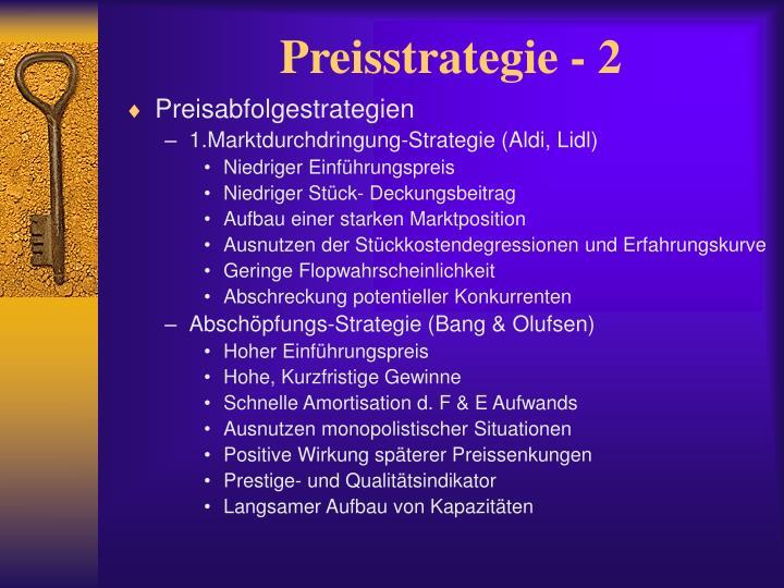 Preisstrategie - 2