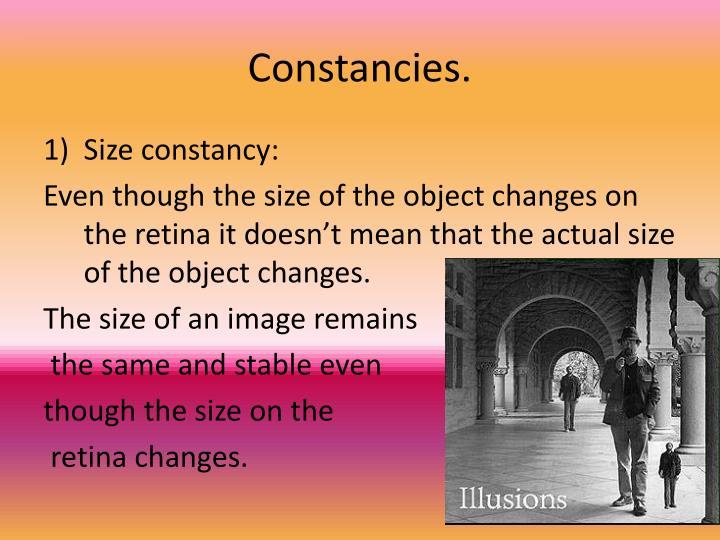 Constancies.