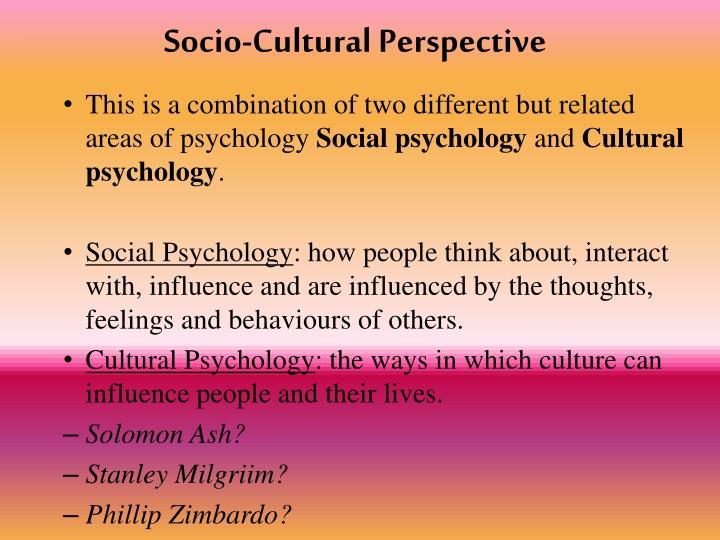 Socio-Cultural Perspective