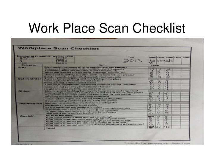 Work Place Scan Checklist