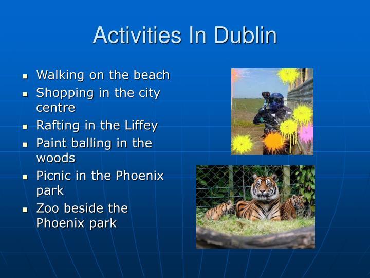 Activities In Dublin