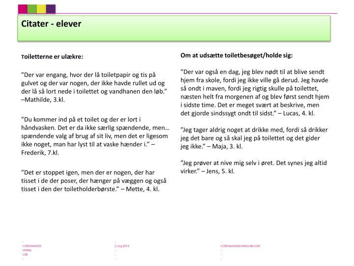 Citater - elever