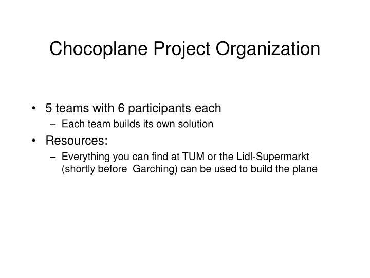 Chocoplane Project Organization