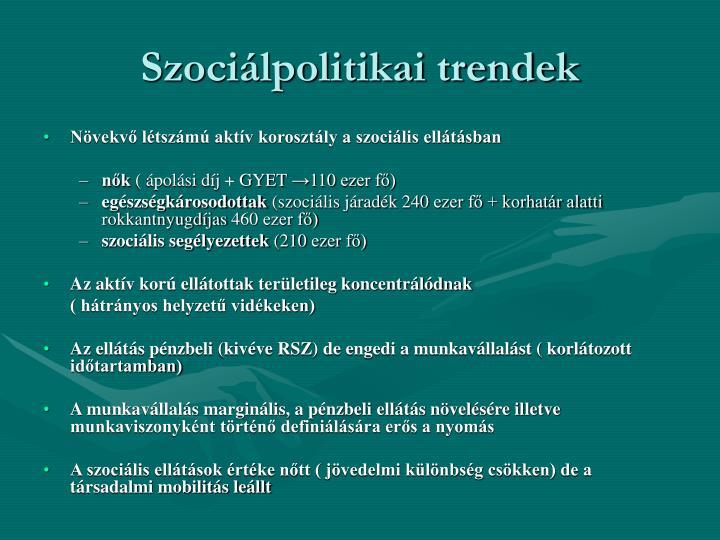 Szociálpolitikai trendek