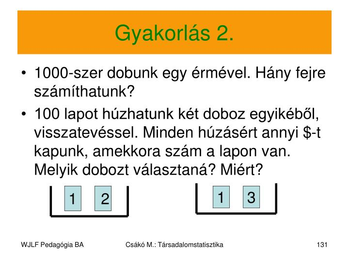 Gyakorlás 2.