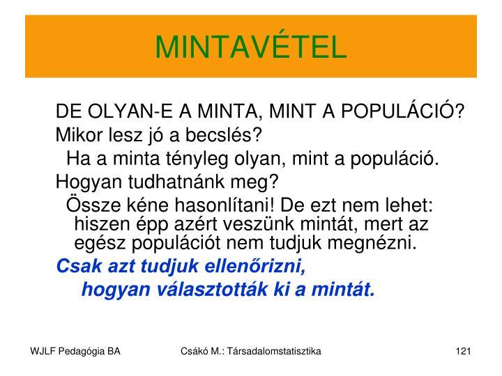 MINTAVÉTEL