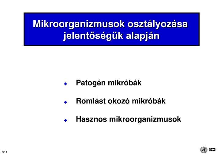 Mikroorganizmusok osztályozása