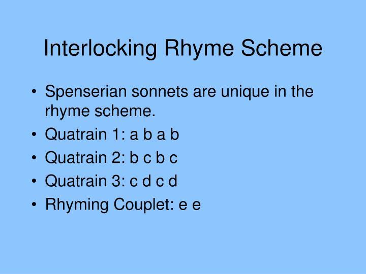 Interlocking Rhyme Scheme