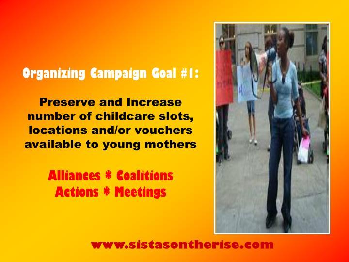 Organizing Campaign Goal #1: