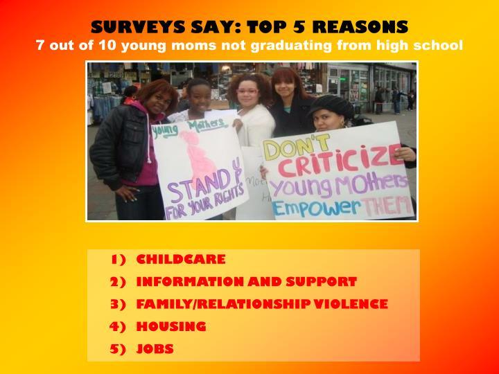 SURVEYS SAY: TOP 5 REASONS