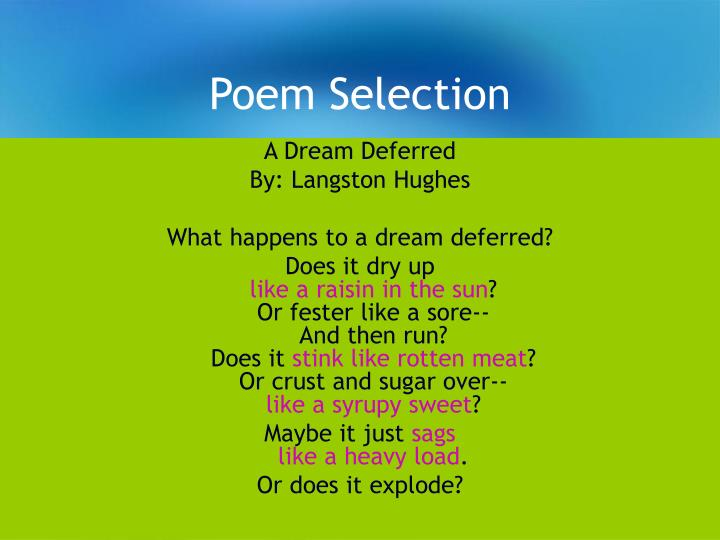 Poem selection1