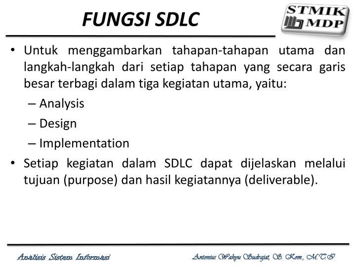 FUNGSI SDLC