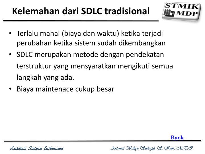 Kelemahan dari SDLC tradisional