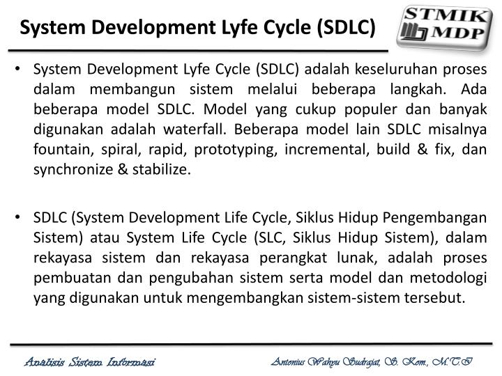 System Development Lyfe Cycle (SDLC)