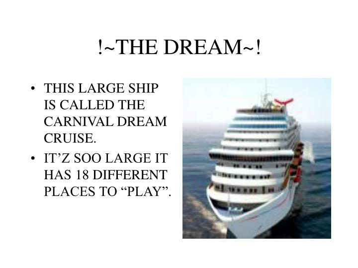 !~THE DREAM~!