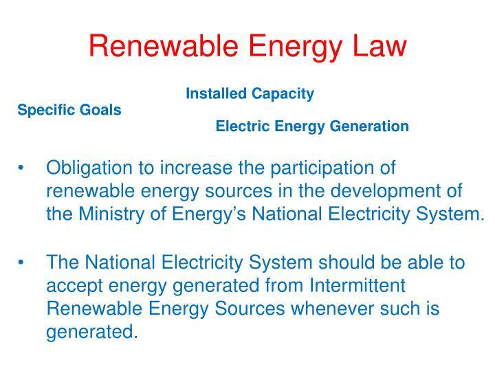 Renewable Energy Law