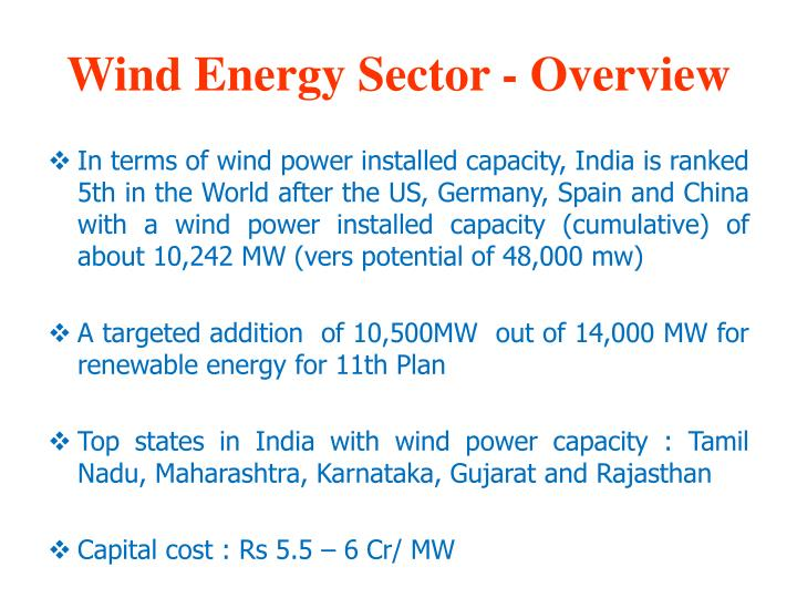 Wind Energy Sector - Overview