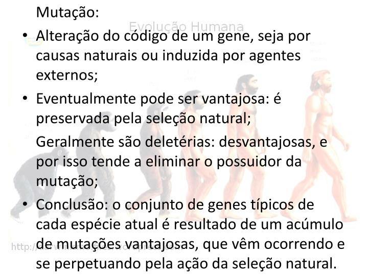Mutação: