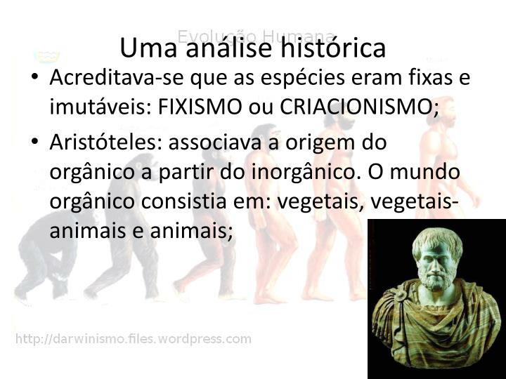 Uma análise histórica