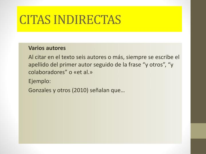 CITAS INDIRECTAS