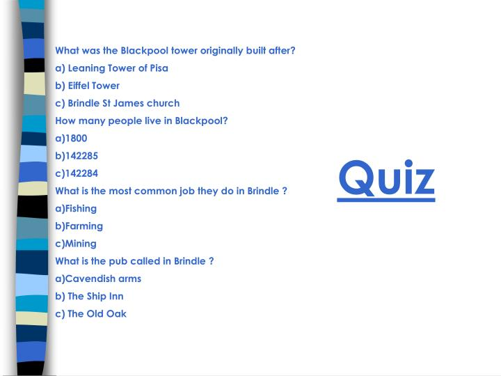 What was the Blackpool tower originally built after?