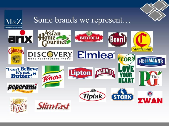 Some brands we represent…