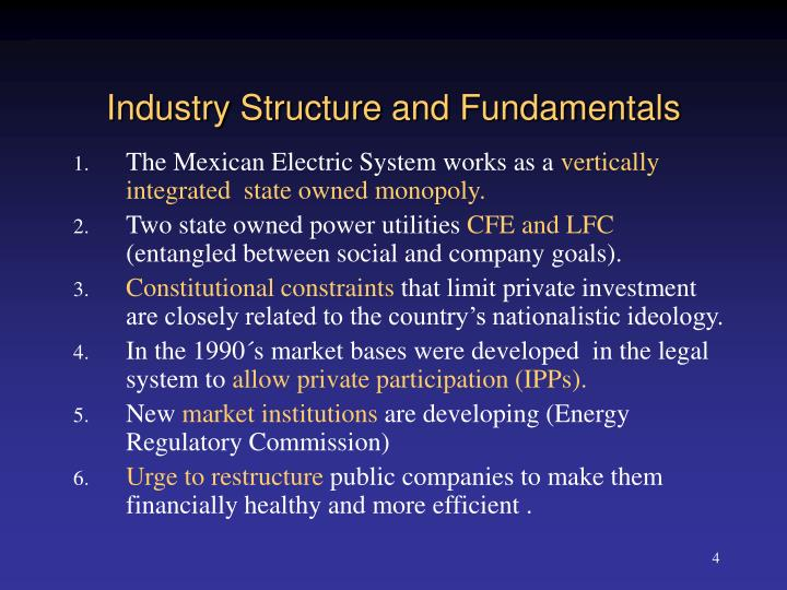 Industry Structure and Fundamentals