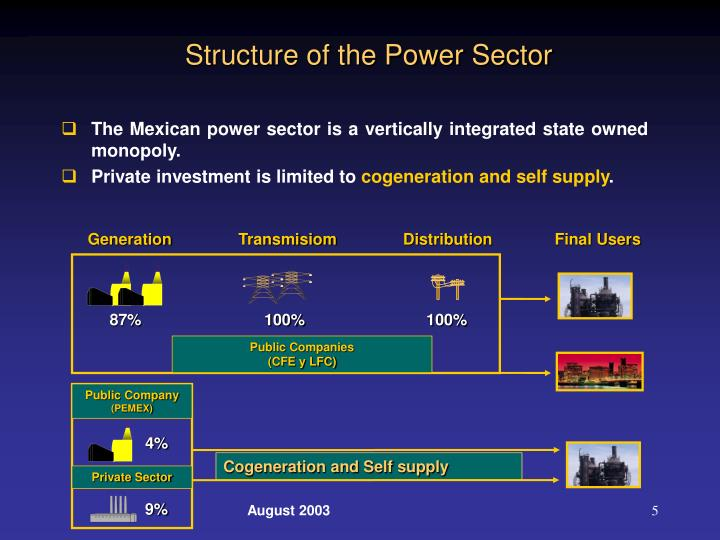 Structure of the Power Sector