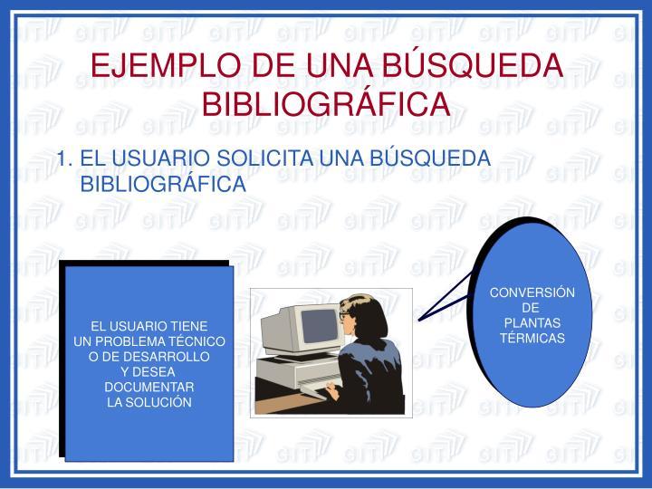 EJEMPLO DE UNA BÚSQUEDA BIBLIOGRÁFICA