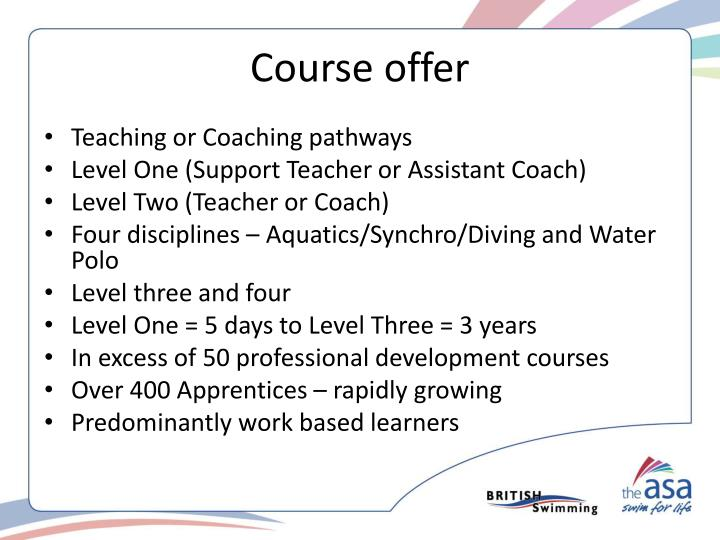 Course offer